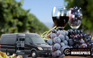 wine tour group transportation Minneapolis mn