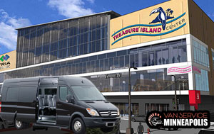 group transportation for treasure island resort in Minneapolis, MN